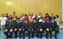 Our new adult members pictured with our staff officers and instructors